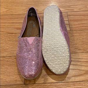 Ballet Pink Glitter Toms